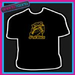 BIKER MOTORBIKE KING ROAD SLOGAN BIRTHDAY TSHIRT